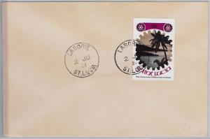 39808  ST LUCIA -  POSTAL HISTORY - COVER  nice postmark: LABORIE 1981  Rotary