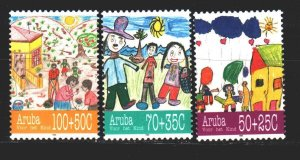 Aruba. 1995. 168-70. Happy childhood, children's drawings. MNH.