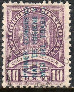 MEXICO 728, 10c CONGRESS OF INDUSTR. HYGENE & MEDICINE OVPTD. USED. VF. (583)