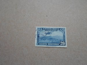 COSTA RICA AIRMAIL STAMP USED NO HINGE MARKS SC# C- 18