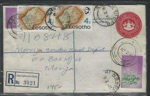 LESOTHO  (PP0310B) 1977 QEII 10C RLE+1/2CX2+4CX2 SEHONGHONG TO  MORIJA