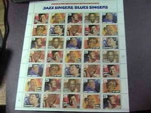 U.S.# 2854-2861-MNH-PANE OF 35-LEGENDS OF AMERICAN MUSIC/JAZZ/BLUES SINGERS-1994