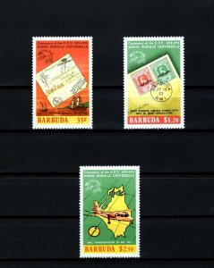 BARBUDA - 1974 - UPU - SHIP - AIRCRAFT - LETTER - PERF - MINT - MNH SET!