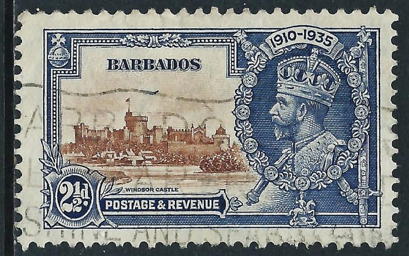 Barbados, Sc #188, 2d Used