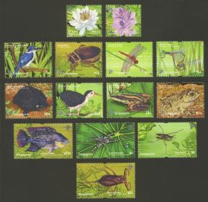 Singapore Sc# 1474-87 MNH Pond Life Definitives