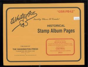 2011 White Ace U.S. Regular Issue Plate Number Stamp Supplement Pages USR-PB42