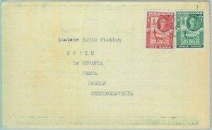 89188 - SOMALILAND - POSTAL HISTORY - RADIO CARD to Czechoslovakia 1948 Hargeisa