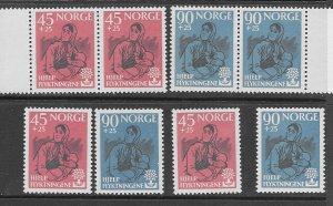 Norway B64-5 MNH cpl. set x 4, vf. 2022 CV $ 68.00