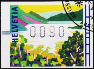 Switzerland. 1996? 90c Machine Label. Fine Used