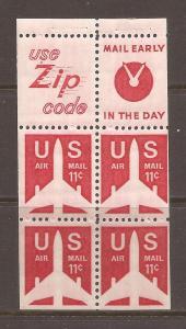 United States scott #C79a Booklet Pane m/nh stock #N4657