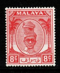 MALAYA PERAK SG134 1950 8c SCARLET MNH
