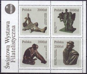 Poland. 1992. bl119. Sculptures. MNH.