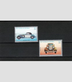 Equatorial Guinea 1979 Mercedes- Rolls Royce set Perforated mnh.vf