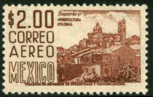 MEXICO C220H, $2Pesos 1950 Definitive 2nd Printing wmk 300 PERF 11, MINT, NH VF
