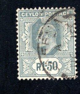 Ceylon #176,  VF, Used, CV $67.50 ....  1290141