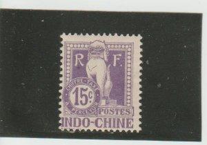 Indo-China  Scott#  J9  MH  (1908 Postage Due)