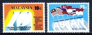 Malaysia - Scott #155-156 - MNH - SCV $1.60
