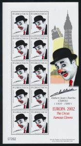 Gibraltar stamp CEPT Circus mini sheet set MNH 2002 Mi 1002-1005 WS110489