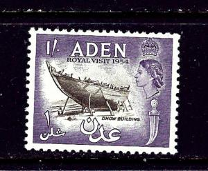 Aden 62 MNH 1954 Dhow Building   #2