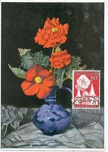 FLOWERS  - Maximum Card : BELGIUM  1955