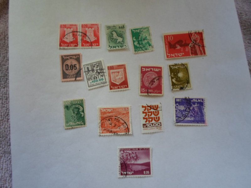 ISRAEL STAMPS MIXED CONDITION. LOT OF 15 stamps ( 4 )