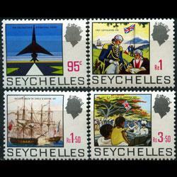 SEYCHELLES 1969 - Scott# 265A-8 History 95c-3.5r NH
