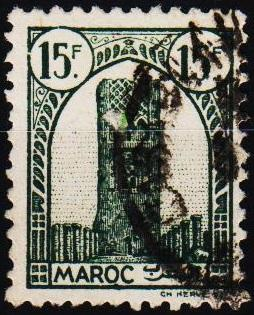 Morocco(French). 1943 15f S.G.281 Fine Used