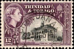 TRINIDAD & TOBAGO 1957 (AUG 22) CHAGUANAS / TRINIDAD DS on SG274 - Ref.832d