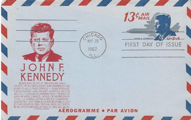 US UC39  FDC  John F. Kennedy  Anderson Cachet