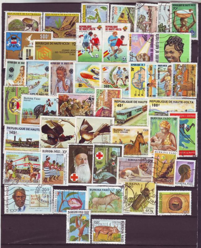 J15561 JLstamps upper volta-burkina faso mh/used all diff #