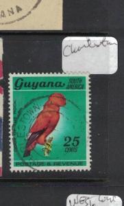 Guyana Bird Charleston Town Cancel VFU (2dua)