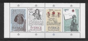 SWEDEN,1505A, HINGED COMP. BKLT OF 4, STOCKHOLMIA '86