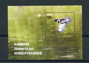 Nevis Birds on Stamps 2015 MNH Central American Kingfishers Kingfisher 1v S/S