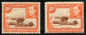 Kenya, Uganda & Tanganyika - KUT SC# 69 69a SG# 134 134a MNH
