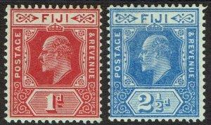 FIJI 1906 KEVII 1D AND 21/2D