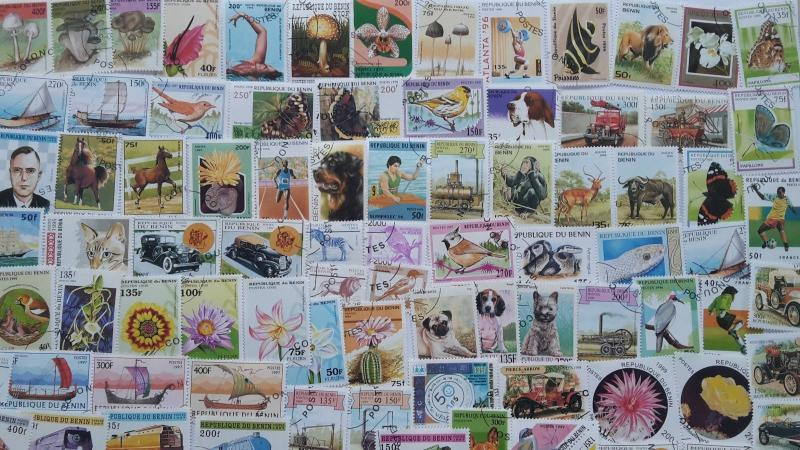 300 Different Benin Stamp Collection