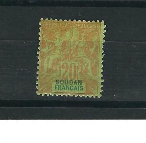French Sudan 11 MH F/VF 1892 SCV $132.50