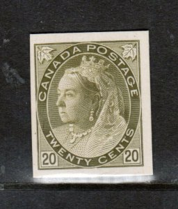 Canada #84P Very Fine Plate Proof On Card