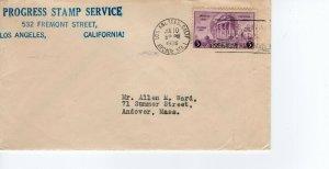 PROGRESS STAMP SERVICE, LOS ANGELES, CALIFORNIA   1936   FDC8197
