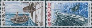 Monaco 1977 SG1292-1293 Career of a Navigator MNH