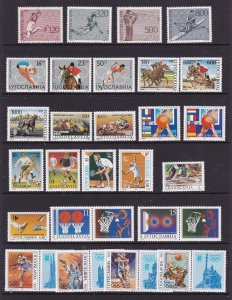 Yugoslavia a M or U lot with sports theme includes sets