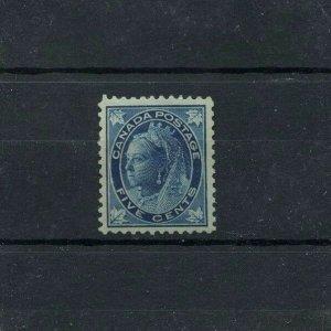 #70 DARK BLUE FIVE cent Maple Leaf VF MNH Cat $750 Canada mint