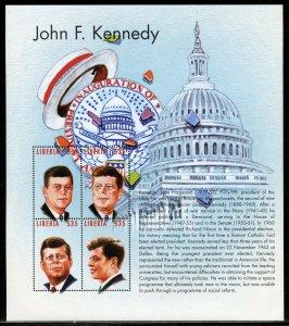 LIBERIA JOHN F. KENNEDY &  CAPITOL  SHEET  MINT NEVER HINGED