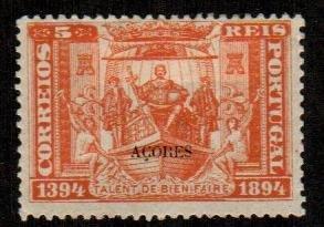 Azores #65  Mint  Scott $4.50   Thin