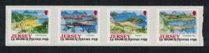 Jersey Island Views Self-adhesive 4v Strip SG#1275-1278 CV£6