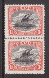 Papua #35 Mint Pair Watermarked Sideways