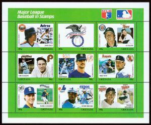 Grenada Scott 1669 Baseball Series (1988) Mint NH VF C