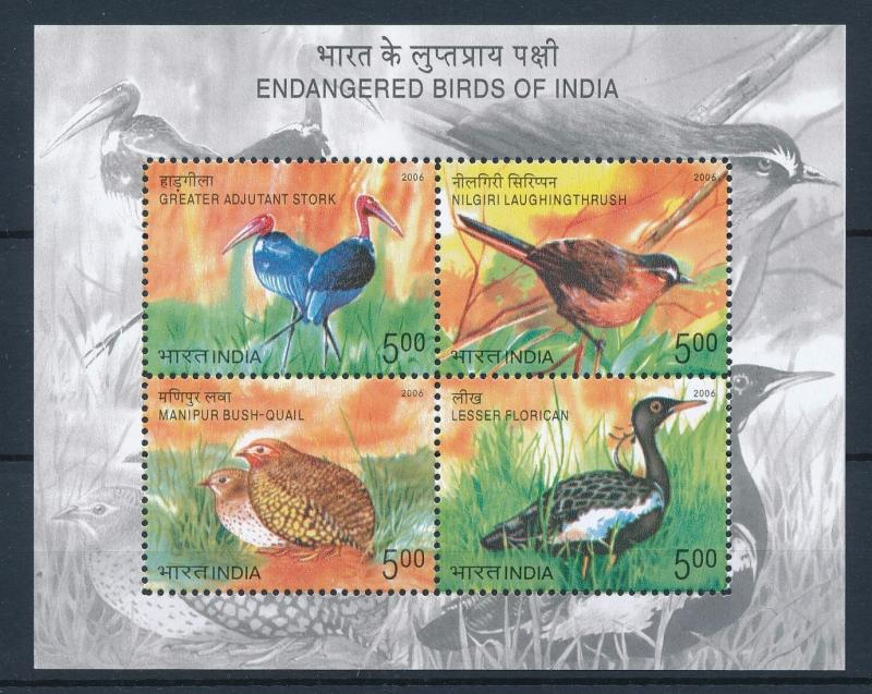 [38168] India 2006 Birds Vögel Oiseaux Ucelli   MNH Sheet