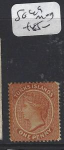 TURKS ISLANDS (P1805BB)  QV   1D  SG 49   MOG