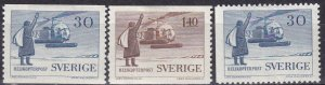 Sweden #518-20  F-VF Unused CV $5.95  (Z6238)